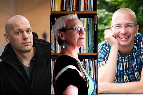 Aleksis Salusjärvi, Johanna SInisalo ja Karo Hämäläinen.