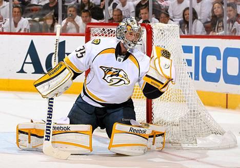 Pekka Rinne on NHL-fanien suosikki.