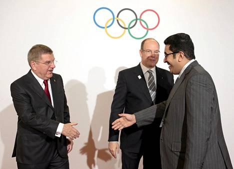 KOK:n puheenjohtaja Thomas Bach ja Monacon prinssi Albert tapasivat joulukuussa Saudi-Arabian Nawaf Faisal Fahd Abdulazizin, joka on KOK:n kunniajäsen.