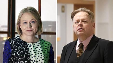 Kokoomuksen kansanedustajat Elina Lepomäki ja Juhana Vartiainen