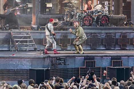 Saksalainen Rammstein esiintyi perjantaina Tampereella.