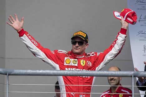 Kimi Räikkönen on juhlinut tällä kaudella voittoa vain Yhdysvaltojen Austinissa 21. lokakuuta.