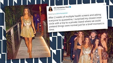 Kuvakaappaus Kim Kardashian Westin Twitter- tililtä.