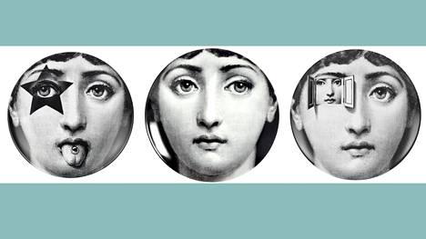 Sopraano Lina Cavalierin kasvoista tuli Piero Fornasettille liki pakkomielle. Hän varioi ne satoihin seinälautasiin. Poika Barnaba Fornasetti on jatkanut työtä.