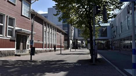 Kävelykatu Salon keskustassa.