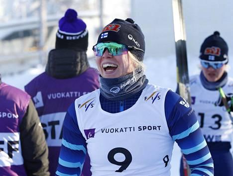 Vilma Ryytty hiihti parhaan MM-kisasijoituksensa sprintissä, jossa hän oli viides.