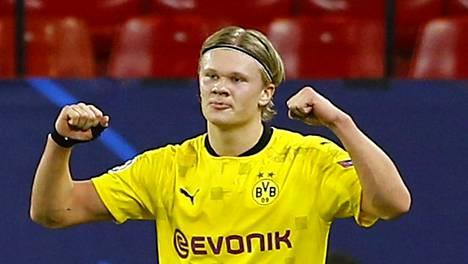 Erling Braut Haaland on ollut käsittämättömässä vireessä Mestarien liigassa.