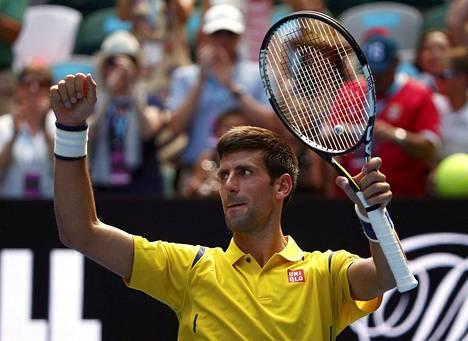 Novak Djokovic tuuletti avauskierroksella voittoa Etelä-Korean Chung Hyeonista lukemin 6–3, 6–2, 6–4.