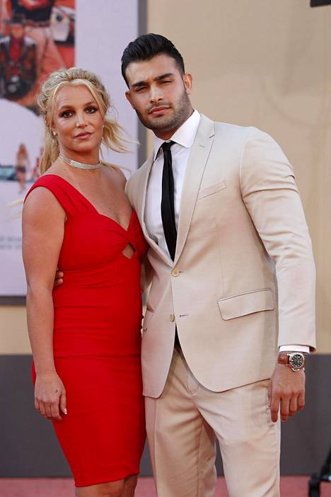 Britney Spears and her partner Sam Asghari at the premiere of Once Upon A Time in Hollywood in the summer of 2019.
