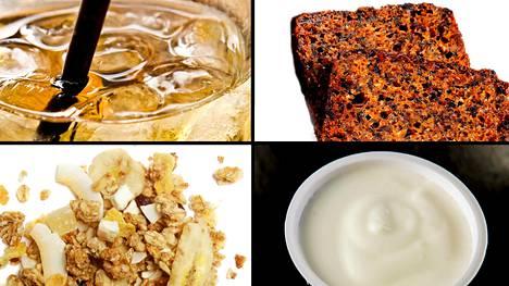 Sokerin määrään kannattaa kiinnittää huomiota esimerkiksi leivän, myslin ja jogurtin valinnassa. Sokeria kertyy myös makeista alkoholijuomista, kuten siideristä.