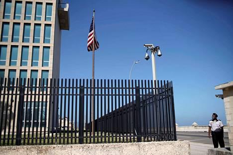 Yhdysvaltain lähetystö Kuuban pääkaupungissa Havannassa.