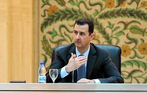 Syyrian presidentti Bashar al-Assad.