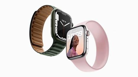 Uusissa Apple Watch Series 7 -älykelloissa on 20 prosenttia aiempaa mallia suurempi näyttö.