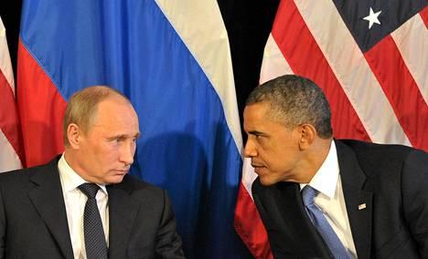 Presidentit Vladimir Putin ja Barack Obama tapasivat  G20-kokouksessa Los Cabosissa Meksikossa kesäkuussa 2012.