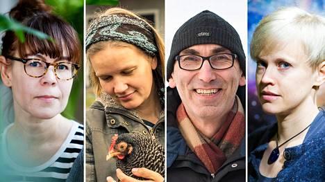 Mari Käyhkö, Piia Anttonen, Juha T. Hakala ja Anne Liljeström