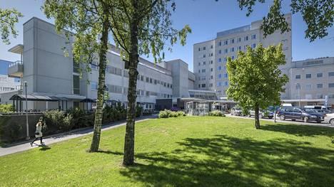 Vaasan keskussairaalan pihanäkymä.