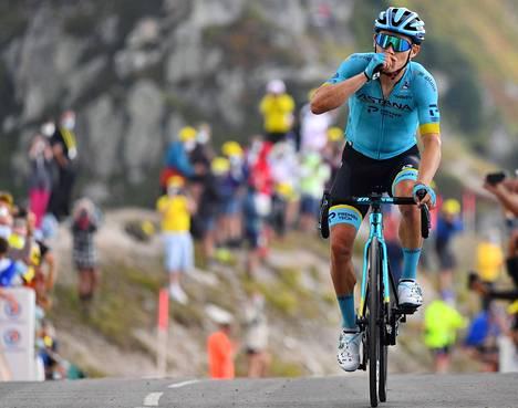Miguel Angel Lopez jaksoi parhaiten rankan nousuetapin, joka päättyi yli kahden kilometrin korkeuteen.