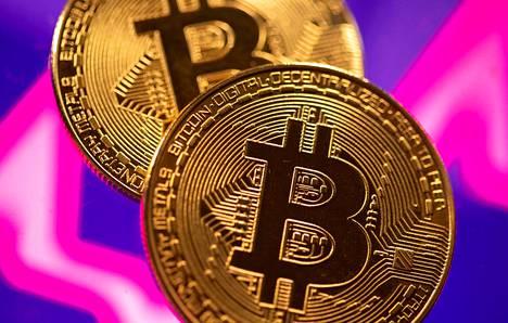 Piirros kuvitteellisesta bitcoin-kolikosta. Verottajan näkökulmasta bitcoin ei ole sijoitustuote eikä valuutta.