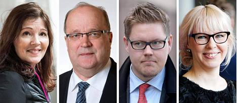 Sari Sarkomaa, Tapani Tölli, Antti Lindtman ja Aino-Kaisa Pekonen.