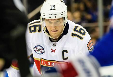 Floridan kapteeni Aleksander Barkov on antanut tällä kaudella jo 12 maalisyöttöä.