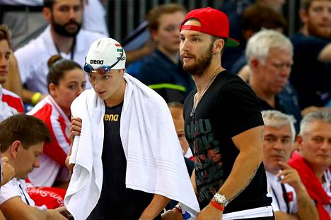 Katinka Hosszun ja Shane Tusupin tiet eroavat. Kuva vuoden 2016 EM-kisoista.