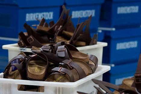 Birkenstockeja valmistetaan Görlitzin kaupungissa Saksassa.