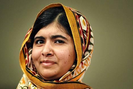 Malala Yousafzai kuvattuna Haagissa, jossa hän sai lasten rauhanpalkinnon syyskuussa.