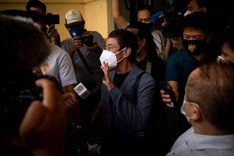 Maria Ressa tuomittiin Flippiinien pääkaupungissa Manilassa maanantaina.