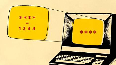 Verkkopalvelun salasanan on aina oltava pitkä, jotta se on vaikeasti murrettavissa.