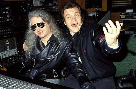Jim Steinman (vas.) ja Meat Loaf ja työstivät yhdessä Meat Loafin albumia Bat Out of Hell II vuonna 1991.