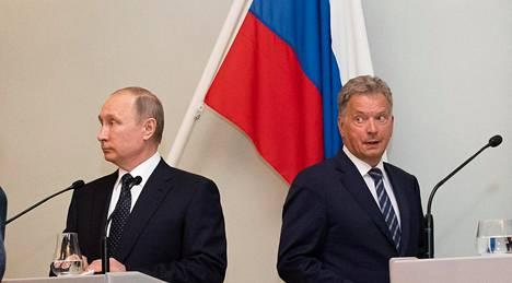 Venäjän presidentti Vladimir Putin tapasi tasavallan presidentin Sauli Niinistön Hotelli Punkaharjulla Savonlinnassa.