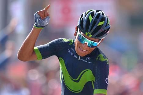 Nairo Quintana oli nopein Giron yhdeksännellä osuudella.