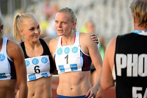 Milja Thureson ja Hanna-Maari Latvala.