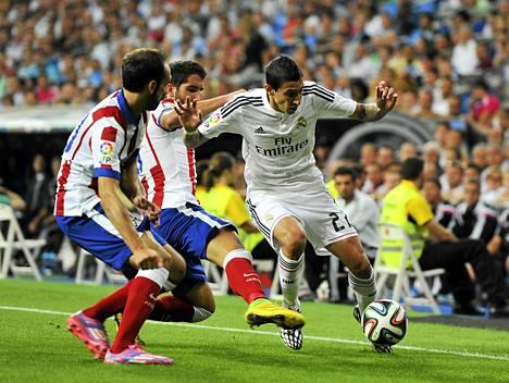 Angel di Maria haastoi vielä tällä viikolla Atletico Madridin puolustajat Espanjan Supercupissa.