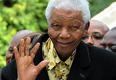 Nelson Mandela Johannesburgissa vuonna 2009.