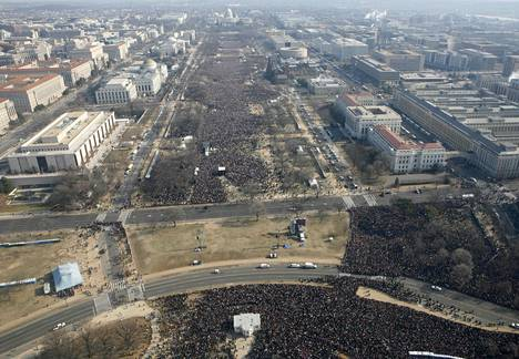 The audience for Barack Obama's inauguration has been the largest in history in 2009.