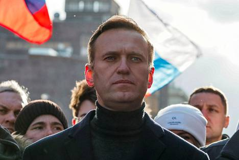 Oppositiojohtaja Aleksei Navalnyi Moskovassa helmikuussa.