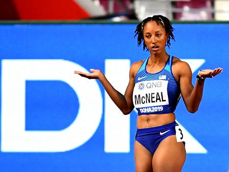 Brianna McNeal Dohan MM-kisoissa vuonna 2019.
