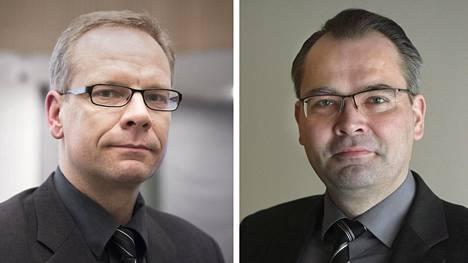Veljekset Jaakko (vas.) ja Jussi Niinistö tavoittelevat Seinäjoen kaupunginjohtajan tehtävää.