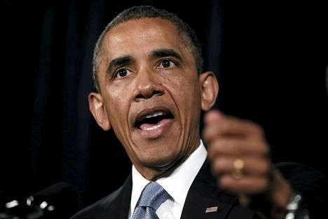 Yhdysvaltain presidentti Barack Obama puhui San Josessa Kaliforniassa perjantaina.