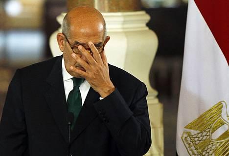Egyptin varapresidentti Muhammed ElBaradei kertoi keskiviikkona jättävän tehtävänsä.
