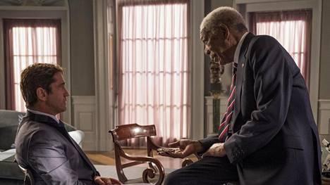 Gerard Butler ja Morgan Freeman esiintyvät Angel Has Fallen -elokuvan keskeisissä osissa.