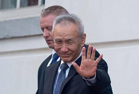 Kiinan varapääministeri Liu He poistui tullineuvotteluista Washingtonissa torstaina.
