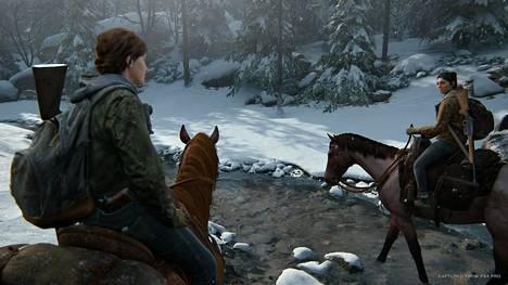 Nuoreksi aikuiseksi kasvanut Ellie (vas.) on The Last of Us II:n päähenkilö.