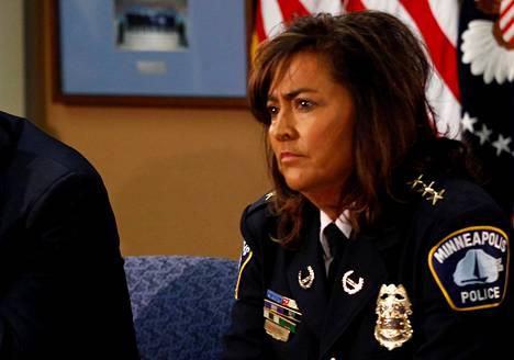 Poliisipäällikkö Janeé Harteau on ollut ensimmäinen nainen Minneapolisin poliisin johdossa.