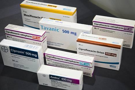 Suomen markkinoilla on kymmeniä fluorokinolonia sisältäviä lääkkeitä.