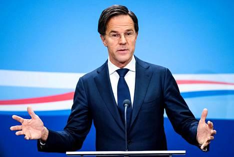 Hollannin pääministeri Mark Rutte.