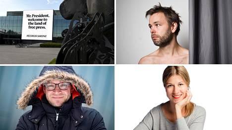 Ville Ranta (oik. ylh.), Teppo Sillantaus ja Vappu Kaarenoja ovat ehdolla vuoden journalisteiksi, HS:n mainoskampanja Trumpin ja Putinin vierailun aikaan puolestaan vuoden journalistiseksi teoksi.