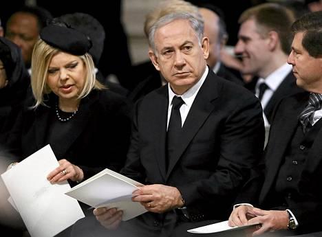 Benjamin Netanjahu osallistui Margaret Thatcherin hautajaisiin huhtikuussa.