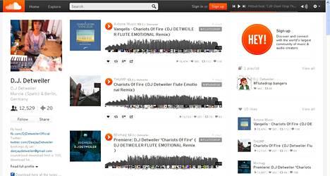 Kuvankaappaus D.J. Detweilerin Soundcloud-profiilista.